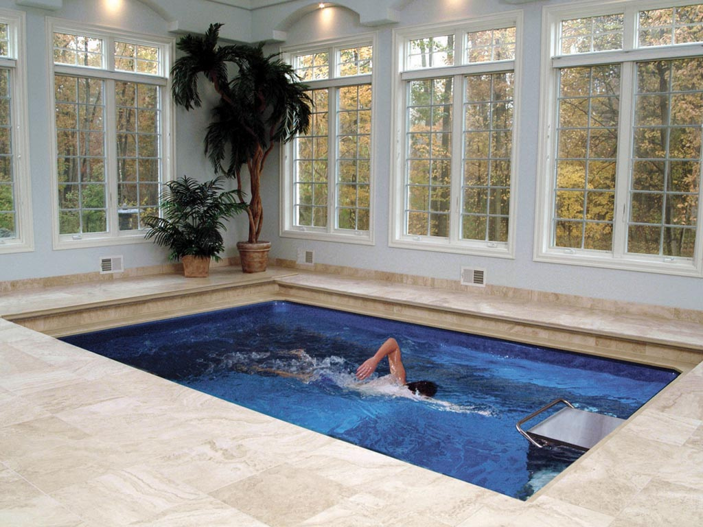 Original endless pool swim spa for Small indoor pools